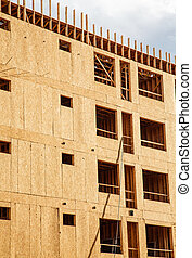 Flakeboard Sheathing on Condo Construction