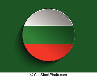 Flag Paper Circle Shadow Button Bulgaria