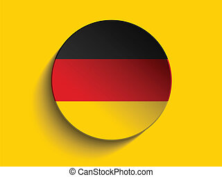 Flag Paper Circle Shadow Button Germany