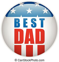 Happy Fathers Day USA American Dad - Vector - Happy Fathers...