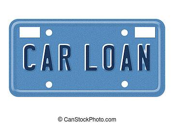 Car Loan Vanity Plate