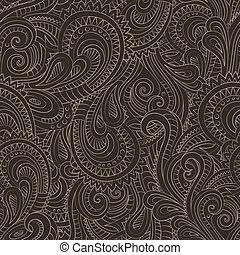 Vintage decorative floral ornamental seamless pattern -...