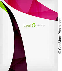 Corporate business flowing lines brochure or presentation...