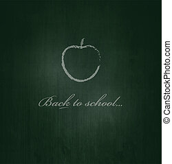 School board - Green Blackboard With Text And Apple