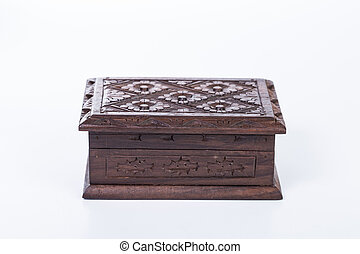 Wood box - Small wood box isolated with white background