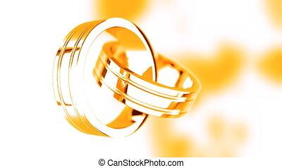 Golden rings  - Rotating golden rings