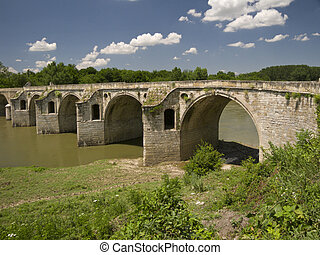 Byala Bridge is an arch bridge over the Yantra River in...