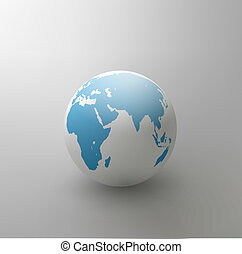 vector gray globe (element for design)