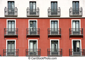 Mediterranean architecture - Windows of building at Plaza...
