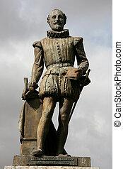 Cervantes - Miguel de Cervantes - famous Spanish novelist,...