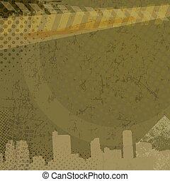 Urban grunge background, vector