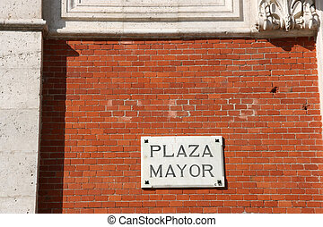 Valladolid - Plaza Mayor - architecture detail in...