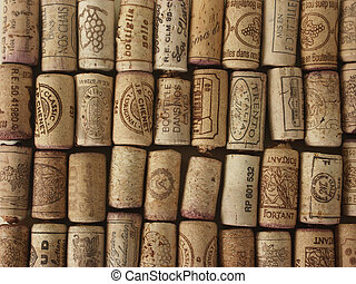 Wine corks - Used corks of wine background