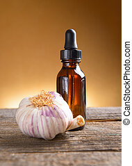 Garlic extract - Fresh garlic fluid extract in a bottle,...