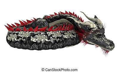 Sleeping Dragon - 3D digital render of a sleeping fantasy...