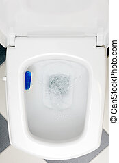 Interior of a typical water-closet. - Interior of a typical...
