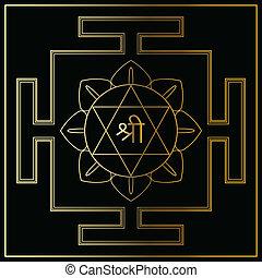 Yantra Goddess Lakshmi. - Yantra Hindu Goddess Shri Lakshmi....