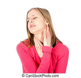 Severe Tonsillitis - Painful neck - parotid and throat...