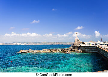 Marfa Harbour Malta - The Marfa Harbour with Gozo Island on...