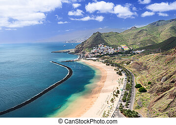 Las Teresitas Beach Tenerife Island Spain - View of Las...