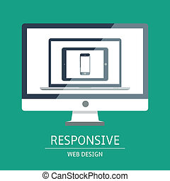 Responsive web design - Vector illustration of concept...