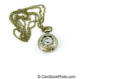 Automatic Clock Locket Gothic Lolita Necklace isolated over...
