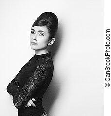 retro photo of fashionable style icon - retro photo of a...