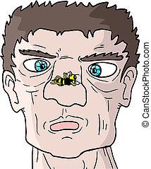 Wasp and man - Creative design of wasp and man