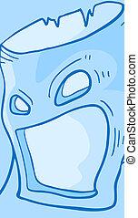 Blue monster - Creative design of blue monster