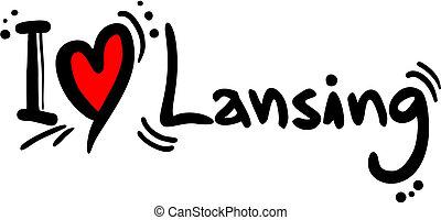 Lansing love - Creative design of lansing love