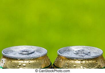 lata, Cerveja,  metal, fechado