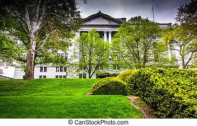 薮, 国会議事堂, 木, 州,  Harrisburg,  PE, 前部