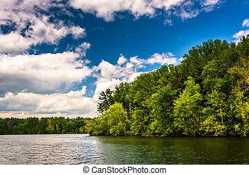 Loch Raven Reservoir in Baltimore, Maryland.