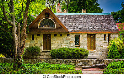 Stone house in Columbia, Maryland.