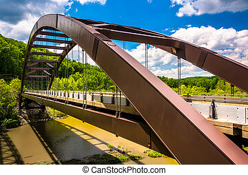The Paper Mill Road Bridge over Loch Raven Reservoir in...