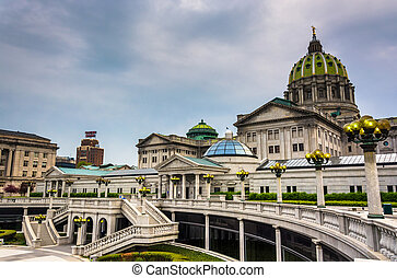 The Pennsylvania State Capitol in Harrisburg, Pennsylvania....
