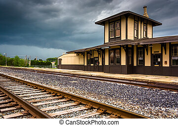 The historic train station in Gettysburg, Pennsylvania.