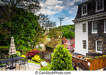 Old buildings in Ellicott City, Maryland. - Old buildings in...