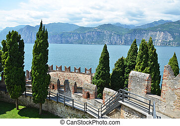 Medieval Scaligero Castle by the Garda Lake, Italy
