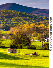 View of the Blue Ridge Mountains from the Shenandoah Valley, Vir