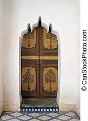 Wooden door and stone carving 3