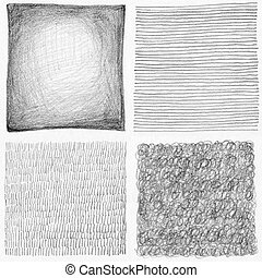 Abstract pencil scribbles background collection Paper...
