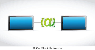 tablet email communication illustration design