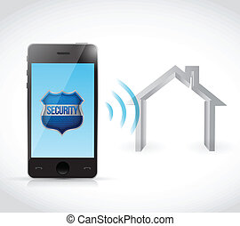 phone home security software illustration design