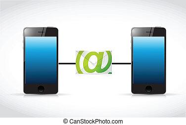 phone email communication illustration design