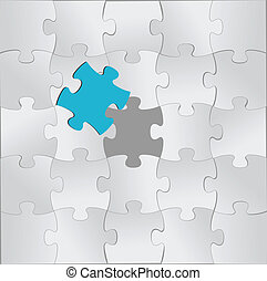 puzzle pieces and one unique in color illustration design