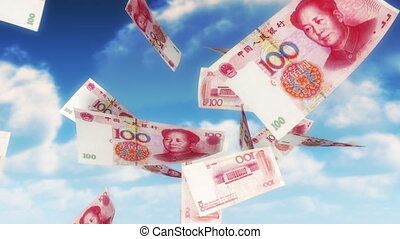 Money from Heaven - CNY - RMB (Loo - 100 Chinese Yuan bills...