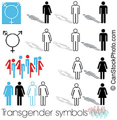 Transgender icon set - A set of transgender cons and...