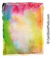 abstratos, aquarela, acrílico, pintado, fundo, papel,...