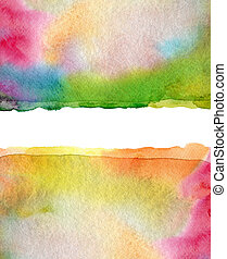 Abstract watercolor and acrylic painted background. Paper...